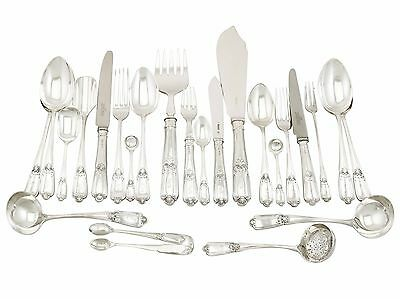 Sterling Silver Canteen of Cutlery for Eight Persons - 1910s - 87 pieces