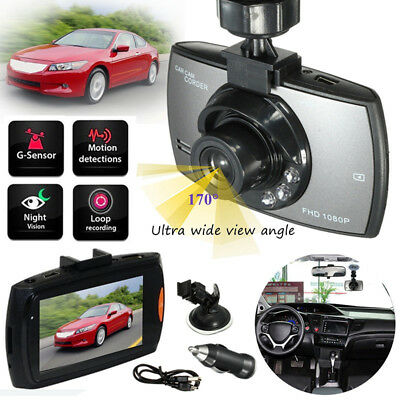"HD 2.4"" TFT 1080P Car DVR Camera Video Recorder Dash Cam Night Vision G-sensor"