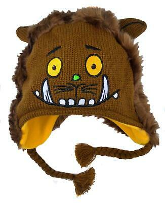 Baby Gruffalo Hat Knitted Face and Furry Back Covers the Ears 1-3 Years