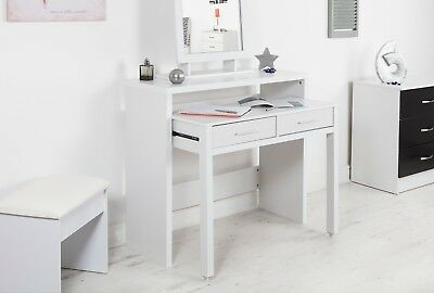 NEW Nexus White Extending Console Table 2 Drawers Writing & Study Desk Units