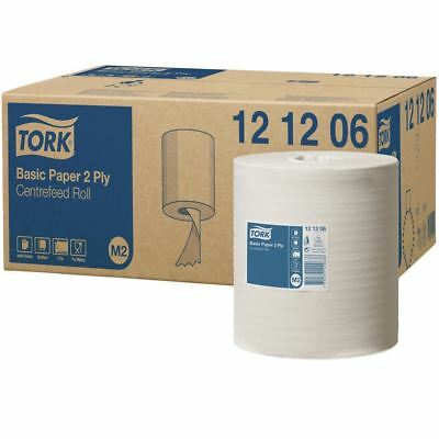 6 x 'Tork' Basic Paper - Centrefeed Roll - 2 Ply White
