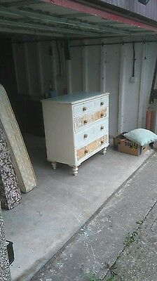 Victorian painted pine chest of drawers Walsall