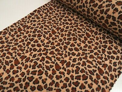 Animal Leopard Printed Polar Fleece Warm Fabric material Anti Pill 150cm wide