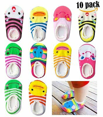 Bassion 10 Pairs Baby Socks Non Slip Newborn Infant Cute Baby Ankle Cotton Socks