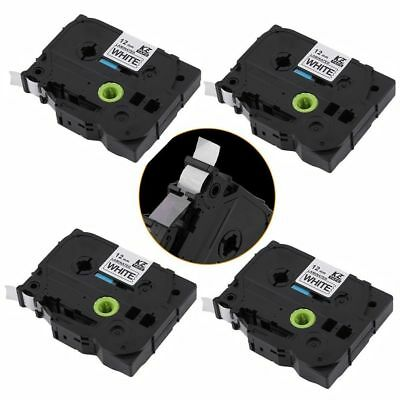 4Pack Black on White Label Tape 12mm For Brother TZ 231 TZe 231 P-Touch 26.2ft H