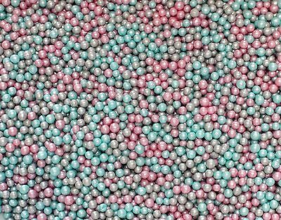 50g Unicorn Glimmer Pearls, Sprinkles, Edible, Sugarcraft, Cake Decorating,