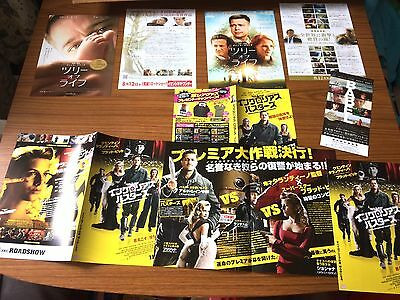 BRAD PITT - set of many RARE Japanese mini B5 Chirashi Posters - Inglorious etc