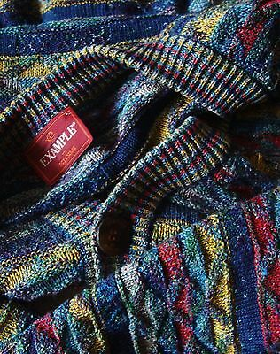 SWEATER cardigan vintage 90's  EXAMPLE by MISSONI TG.XXL    made Italy RARE
