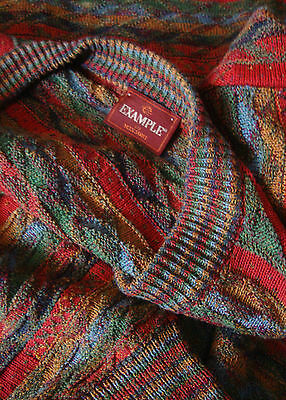 SWEATER cardigan vintage 90's  EXAMPLE by MISSONI TG.L    made Italy RARE