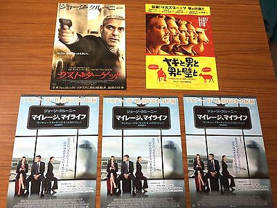 George Clooney - set of five (5) rare Japanese chirashi min film posters