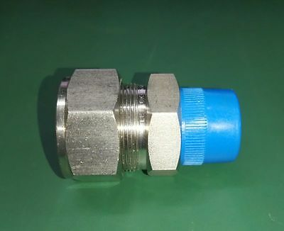 """*NEW* Ham-Let-Lok 3/4"""" Tube OD x 3/4"""" NPT Male Pipe 316 SS Union Connector"""