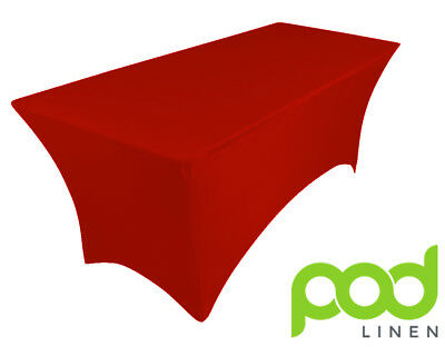 DARK RED spandex lycra stretch cover tablecloth for 6ft foot table 180X75X75