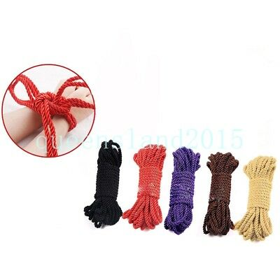 black Purple Red Pink Sexual Wellness Crafts 32 Ft Soft Durable Body Cotton Rope Strap Various Color