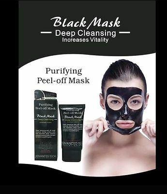 Charcoal Blackhead Remover Peel Off Facial Cleaning Black Face Mask-AdvancedTech