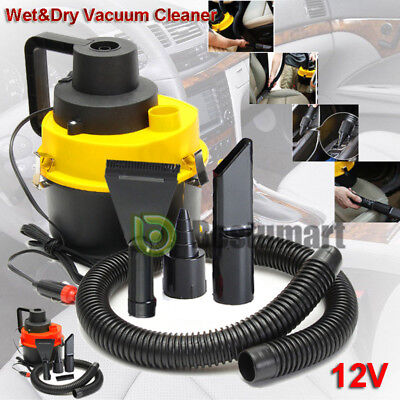12V Wet Dry Vac Vacuum Cleaner Portable Inflator Turbo Hand Held for Car or Shop