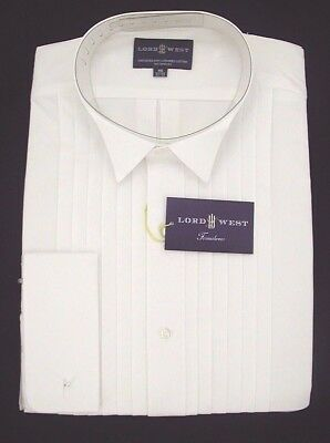 Lord West Cotton Tuxedo Formal Shirt Wing Collar  NOW $19.99 Free Black Bow Tie