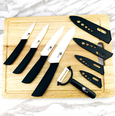 "Kitchen Ceramic Knife set 3"" 4"" 5"" 6"" inch Zirconia White Blade Fruit Knives set"