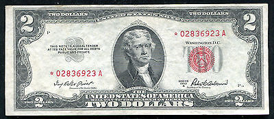 1953-A $2 Two Dollars *star Legal Tender United States Note About Unc