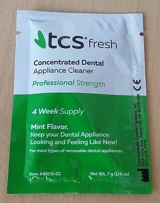 ## TCS Concentrated Dental Appliance Cleaner~Mint~4 Weeks Supply~Dentures & More