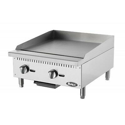 Atosa USA ATMG-24 Heavy Duty Stainless Steel 24-Inch Manual Griddle Propane