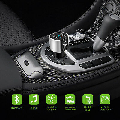 Dual USB Wireless Bluetooth Wireless FM Transmitter Car Charger MP3 Music Player