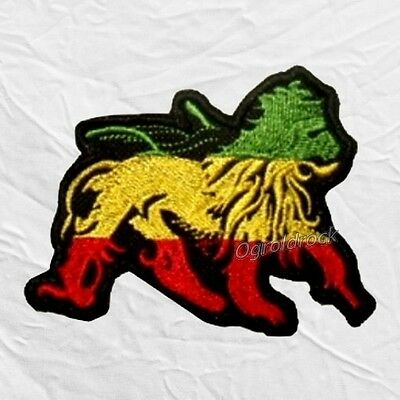 Bob Marley Reggae Zion Lion Embroidered Patch The Wailers Conquering