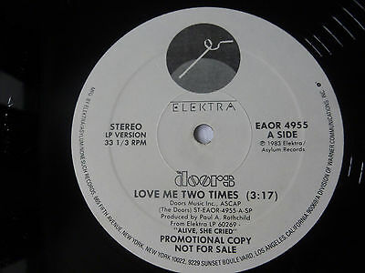 """The Doors ~ Love Me Two Times ~ 1983 12"""" Us Promo Rock Vinyl Single ~ Plays Well"""