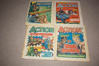 Four issues of Action comic..UK  from 1977