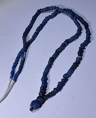 Ancient Roman Blue Glass Bead Necklace Circa 2Nd Century Ad - No Reserve  001
