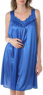 Lati® Luxuriously Silky Looking Soft & Sexy Women Nightgown With Embroidery 9042