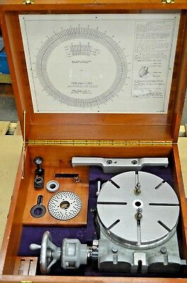 """Moore Tools Precision Rotary Table 10-7/8"""" and Wood Case"""