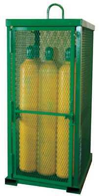 Gas Cylinder Cabinet,32x42,Capacity 12 SAFTCART STS-12