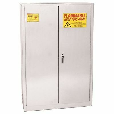 EAGLE PI-47 WHITE Paints and Inks Cabinet,60 Gal.,White G9870551