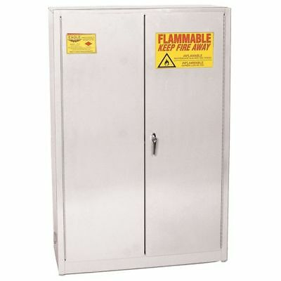 EAGLE PI-45 WHITE Paints and Inks Cabinet,60 Gal.,White G9839873