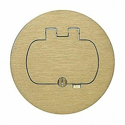 CARLON E97BR Round Floor Box Single-Door Cover Brass