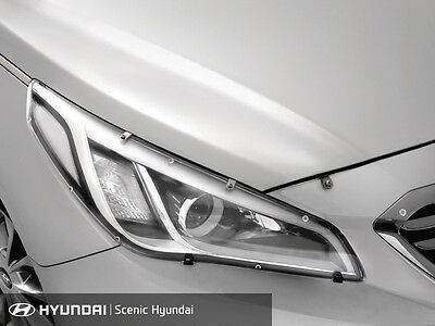 New Genuine Hyundai Sonata Headlight Headlamp Protectors Set of 2 AL010C1000