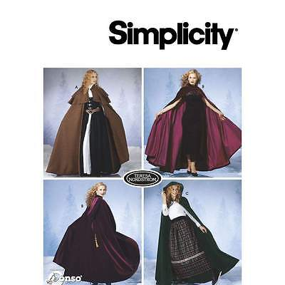variables Schnittmuster Simplicity 7100 Umhang, Cape, Cosplay Gr. A XS-L