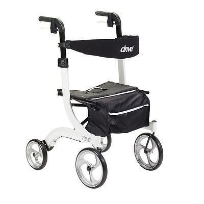DRIVE MEDICAL TALL NITRO ROLLATOR FOLDING WALKER ADULT 10266WT-T White ~~NIB~~
