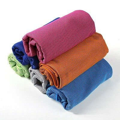 Quick dry Absorbent Ice Cold Towel Travel Yoga Sports Gym Washcloth Chilly Pad