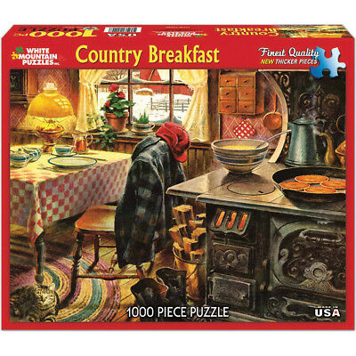 "Jigsaw Puzzle 1000 Pieces 24""X30"" Country Breakfast WM960"