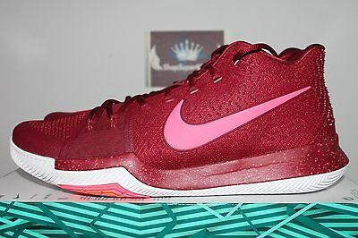 Nike Kyrie 3 Hot Punch Warning Team Red/Hot Punch-White 852395-681 Men's US 12.5