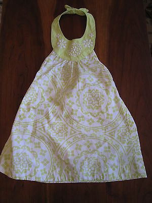 New NWT Gymboree Girls White Lime Green Geometric Halter Dress Panties 3T