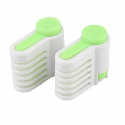 2pcs 5 Layers Bread Slicer Food-Grade Plastic Toast Cutter Baking Pastry Tools K