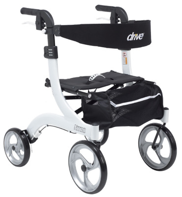 Drive Medical Hemi(Short) Nitro Rollator Folding Walker Adult 10266WT-H White