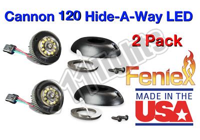 2 Pack Cannon 120 Hide-A-Way LEDs Blue, Free Switch, Free Flange, H-2209