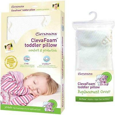 Clevamama Foam Toddler Pillow & Replacement Cover