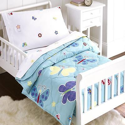 Olive Kids Butterfly Garden 4-Piece Bed in a Bag Toddler Bedding Set
