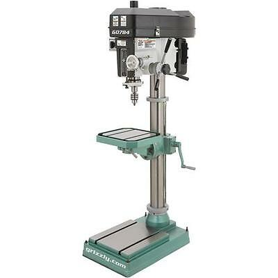 "G0784 Grizzly 15"" Heavy-Duty Floor Drill Press"