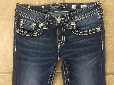 "Miss Me "" Skinny "" Flap Stretch Jeans Girls Size 14"