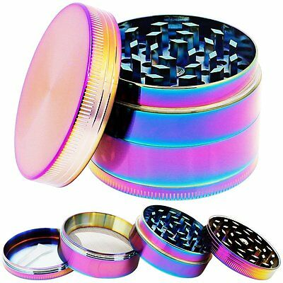 Heavy Duty Colourful Weed Marijuana Herb Spice Tobacco Grinder + Scraper Crusher